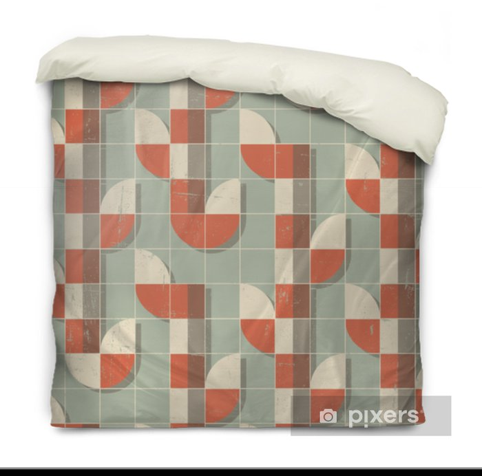 Vector Colorful abstract retro seamless geometric pattern Duvet Cover - Graphic Resources