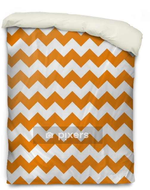 zig zag chevron pattern background vintage vector illustration Duvet Cover - Celebrations
