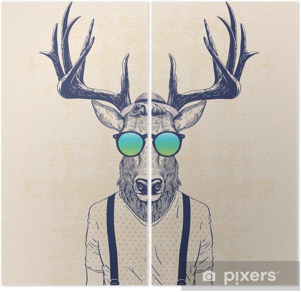 Dyptyk Chłodny jelenia - Zwierzęta