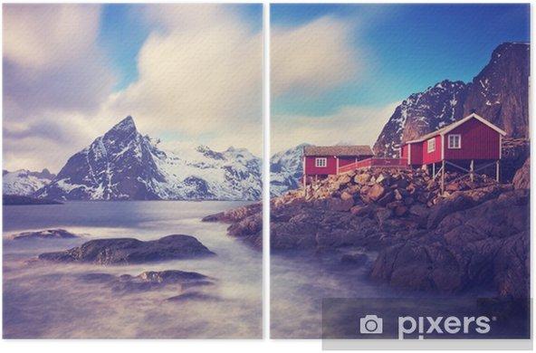 Dyptyk Lofoty w zimie - Krajobrazy