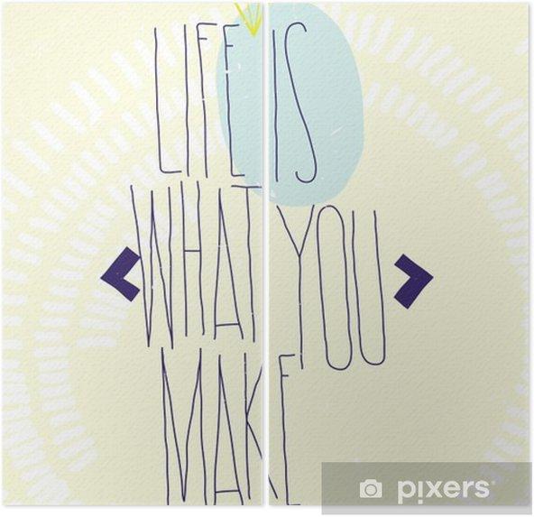Dyptyk Proste inspirujące cytaty motywujące plakat z brylantem, Dood - Biznes