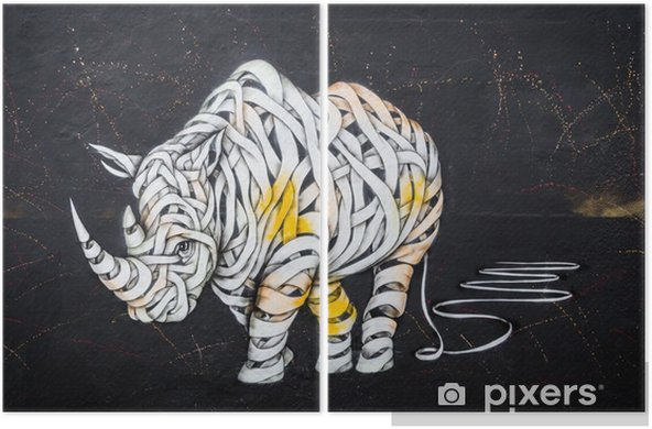 Dyptyk Tag nosorożca - Hobby i rozrywka