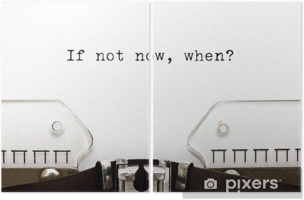 Dyptyk Typewriter Kiedy jeśli nie teraz - Koncepcje biznesowe