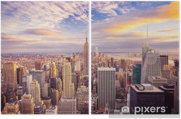 Dyptyk Zachód słońca nad Manhattanem -