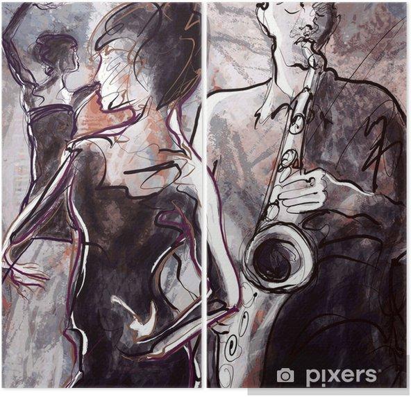 Dyptyk Zespół jazzowy z tancerzami - Jazz