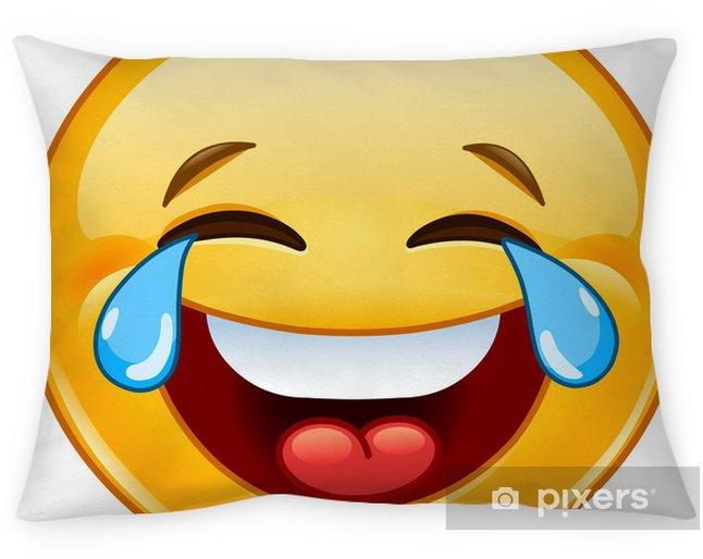 Cuscini Emoticon.Federa Per Cuscino Emoticon Con Lacrime Di Gioia Pixers