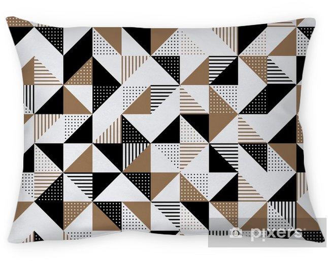 Federa per cuscino Uno sfondo geometrico nero e oro. - Risorse Grafiche