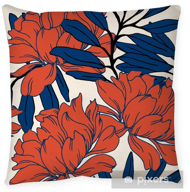 Abstract elegance pattern with floral background. Floor Pillow - Plants and Flowers