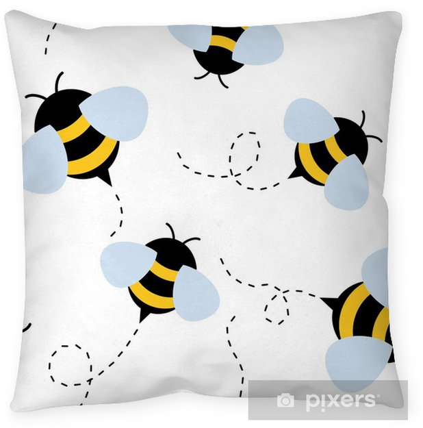 Living Room Art Cafe Social Club Kadıköy: Bee Seamless Pattern. Honey Vector. Floor Pillow • Pixers