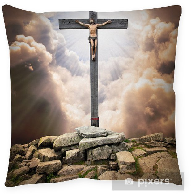 Jesus Christ on The Cross  Floor Pillow
