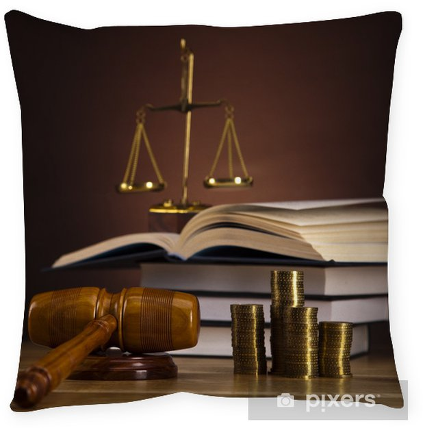 Law Theme Mallet Of Judge Wooden Gavel Floor Pillow