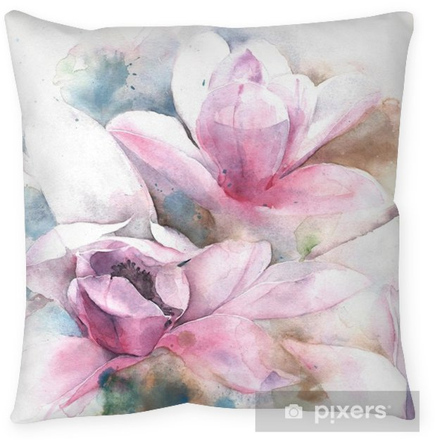 Magnolia Flower Tree Tulip Magnolia Watercolor Painting Illustration
