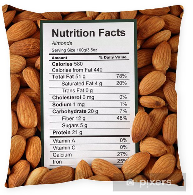 Roasted Almonds Nutrition Facts 100g Nutritionwalls
