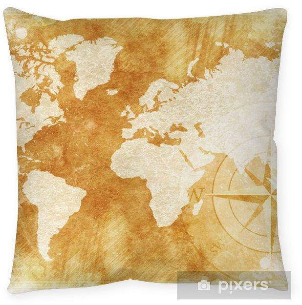 Rustic World Map Floor Pillow Pixers We Live To Change