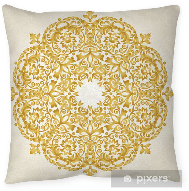 Vector Ornament In Victorian Style Floor Pillow Themes
