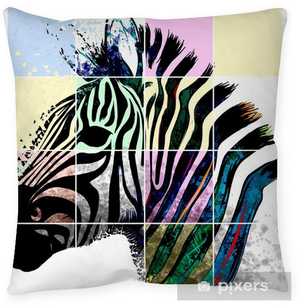 Living Room Art Cafe Social Club Kadıköy: Zebra Zebrato Floor Pillow • Pixers® • We Live To Change