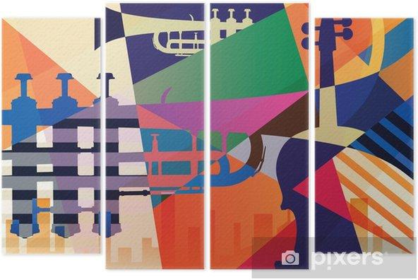 Fortyk Abstrakt jazzaffisch, musikbakgrund - Grafiska resurser