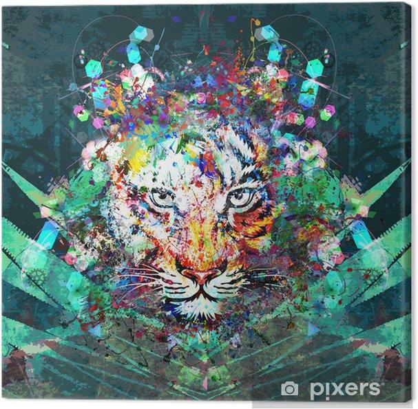 Тигр в джунглях Fotolærred - Dyr