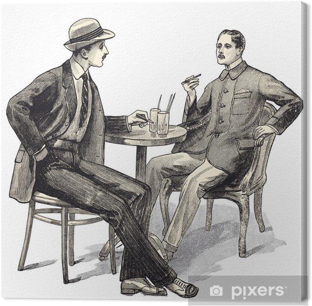 2 hommes au café Fotolærred - Forretningskoncepter