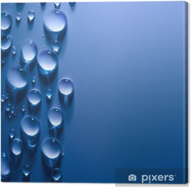 Abstrakt vanddråber baggrund med smukt lys Fotolærred -