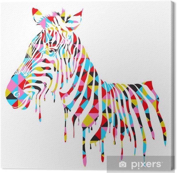 Abstrakt zebra - vektor illustration Fotolærred -