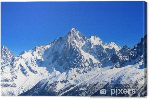 Aiguille Verte - Massif du Mont-Blanc (Haute-Savoie) Fotolærred -
