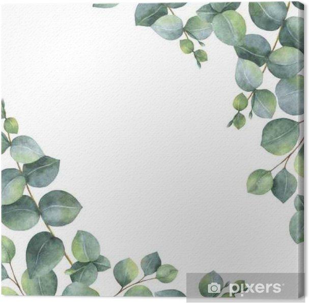 Alle nye Akvarel grøn blomsterkort med sølv dollar eucalyptus blade og QG-34