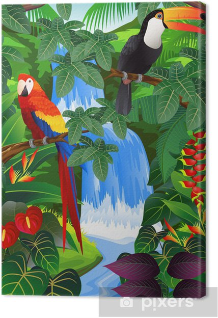 Beauiful tropisk baggrund Fotolærred -