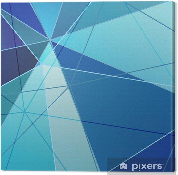 Blå Triangle Abstrakt Baggrund Fotolærred -