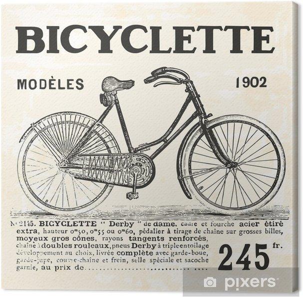 Cykel til pige Fotolærred - Transport