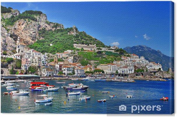 Fantastiske kyst Amalfi, Italien Fotolærred -
