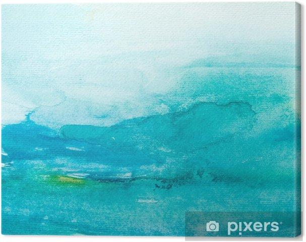 Farve streger akvarel maleri kunst Fotolærred -