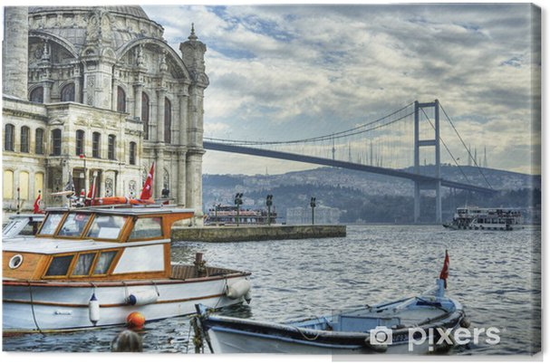 Hvor to kontinenter mødes: istanbul Fotolærred -