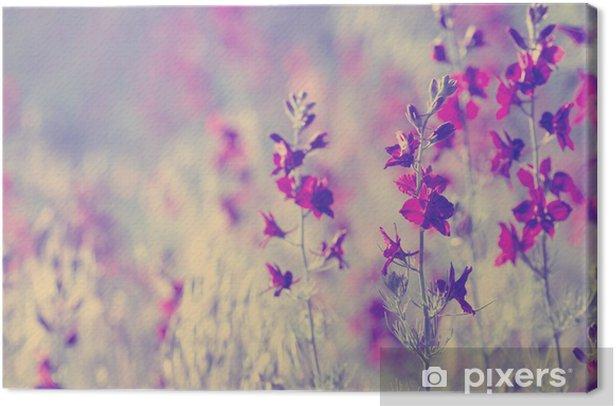 Lilla vilde blomster Fotolærred - Blomster