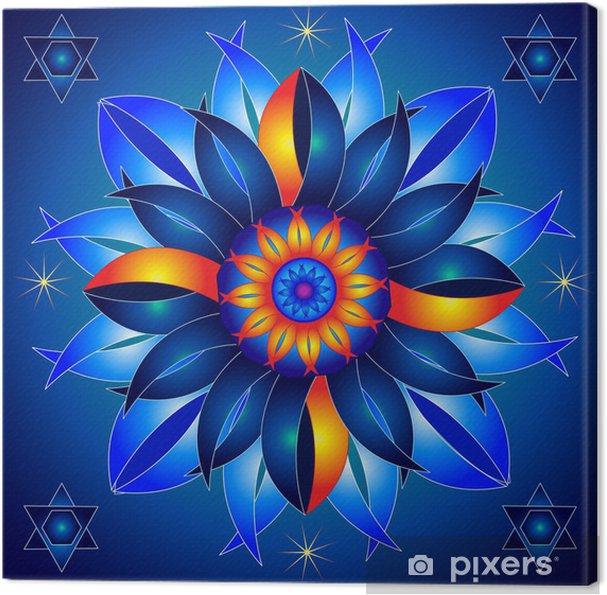 Mandala Talisman af Kosmisk Energi Healing Fotolærred - Esoterisk