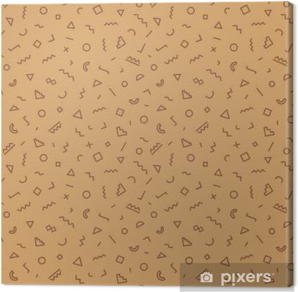 4d37d36c919 Memphis sømløse mønster brun farve Fotolærred • Pixers® - Vi lever ...