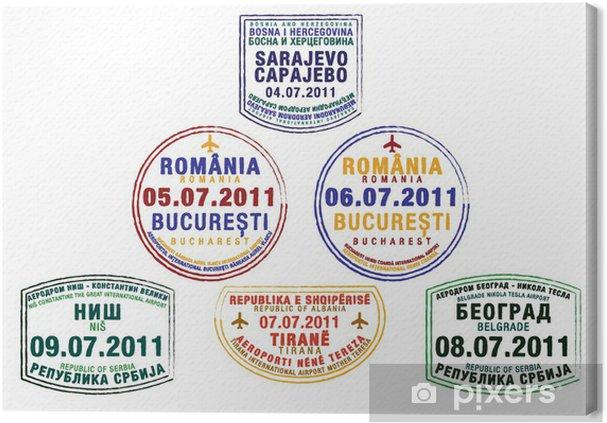 Pasfrimaerker Fra Det Tidligere Jugoslavien Fotolaerred Pixers