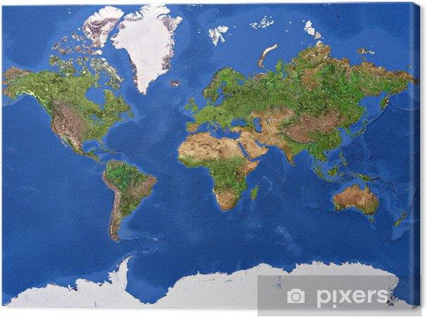 Planet Earth Texture Fotolærred -