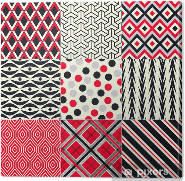 Problemfri abstrakt geometrisk mønster Fotolærred - Baggrunde