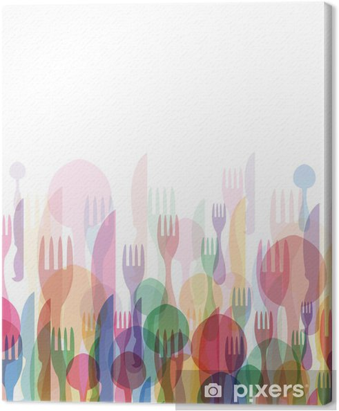 Restaurant menu farve Fotolærred -