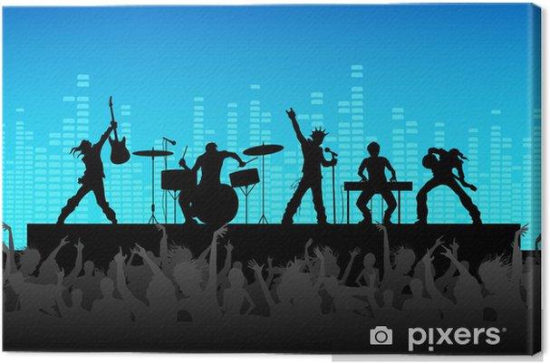 Rock Band Performance Fotolærred -