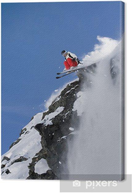 Ski freeride Fotolærred - Skiing