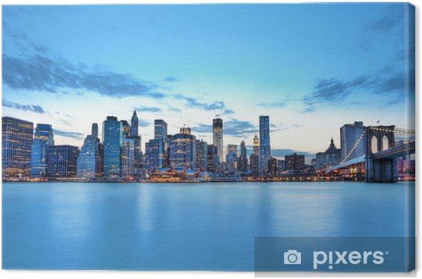 Skyline de New York og Brooklyn bridge. Fotolærred -
