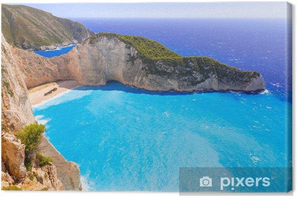 Smuk Navagio Beach (Shipwreck Beach) på Zakynthos Island, Grækenland Fotolærred - Vand