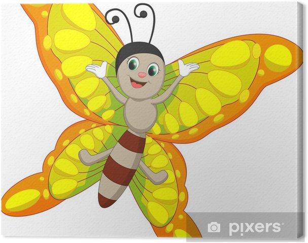 1533f024a9c Sød sommerfugl tegneserie Fotolærred • Pixers® - Vi lever for ...