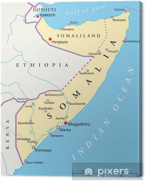 Somalia Kort Somalia Landkarte Fotolaerred Pixers Vi Lever