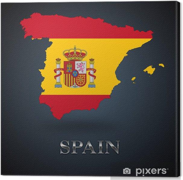 Spanien Kort Spansk Kort Fotolaerred Pixers Vi Lever For