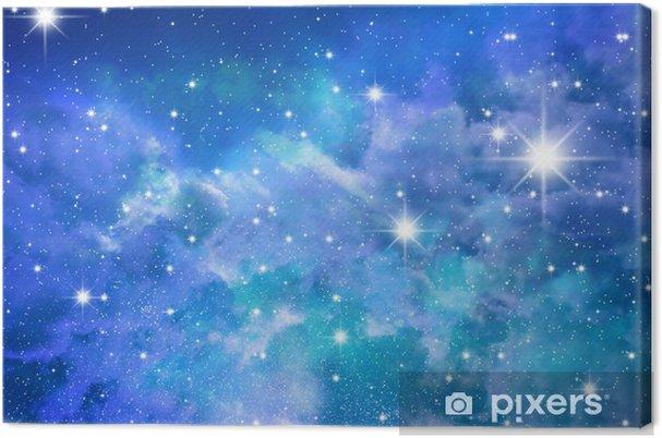 Stjerner himmel Fotolærred -