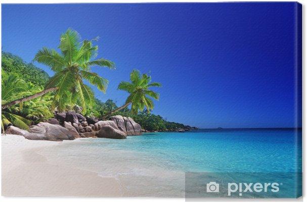 Strand på Praslin Island, Seychellerne Fotolærred -