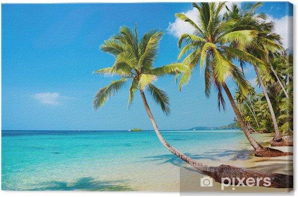 Tropisk strand Fotolærred -